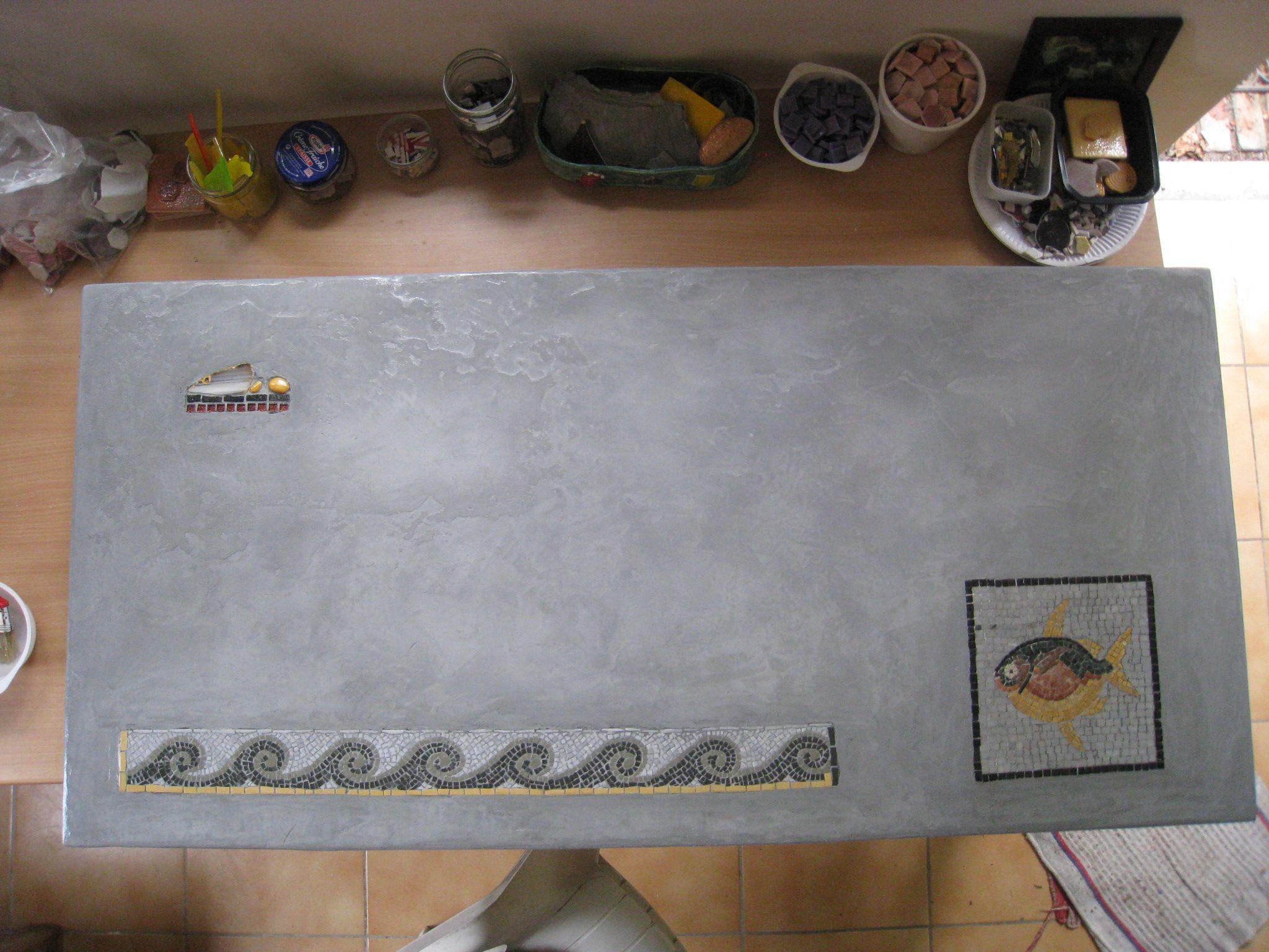 Mosaique voyage blog chezcatherine - Faire une table en beton cire ...